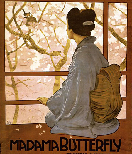 Image of a Madama Butterfly poster from 1904