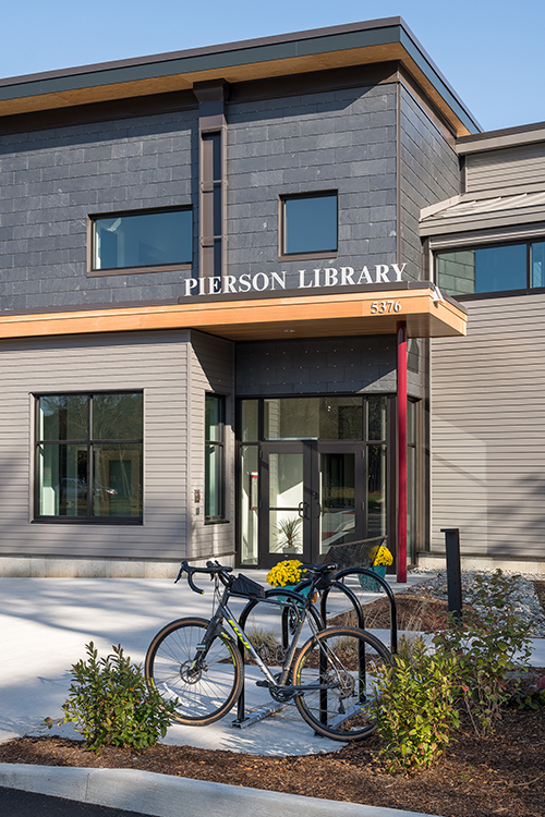 Image of the Pierson Library entrance