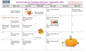 Click for September 2021 Events!